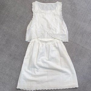 Madewell Dresses - MADEWELL - Eyelet Open Back Overlay Dress Size 4